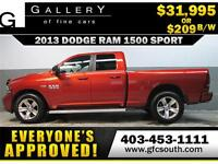 2013 DODGE RAM SPORT CREW *EVERYONE APPROVED* $0 DOWN $209/BW!