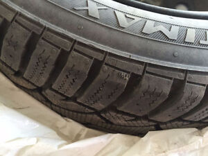 Highly rated Winter Tires General Altimax Arctic 185/60R15 +rims Kitchener / Waterloo Kitchener Area image 1