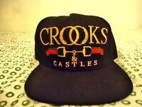 Black/Gold Crooks & Castles Snapback Hat Cap: Trapstar Unisex