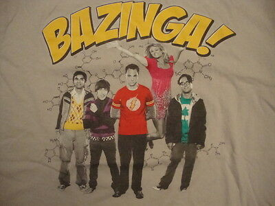 Big Bang Theory BAZINGA! Sheldon Cooper Leonard Penny TV Show T Shirt M