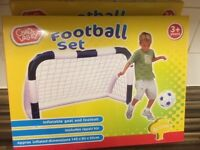 Chad Valley Inflatable Goal Set x 2