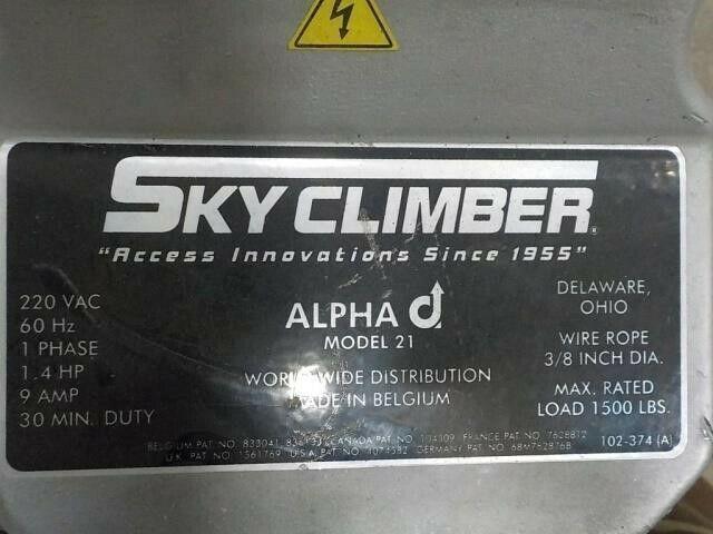 "Suspended scaffold  ""Skyclimber"" #Alpha 21"