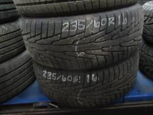PAIR OF 235/60/16 HAKKAPELIITTA USED SNOW TIRES