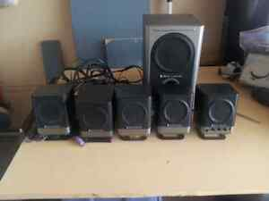 Altec Lansing 251  5.1  speakers & Soundcard Edmonton Edmonton Area image 1