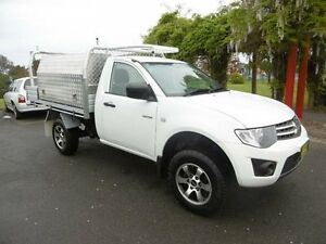 2012 Mitsubishi Triton MN MY12 GLX White 4 Speed Automatic Cab Chassis Yagoona Bankstown Area Preview