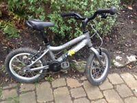 Ridgeback MX14 kids grey bike - very good condition