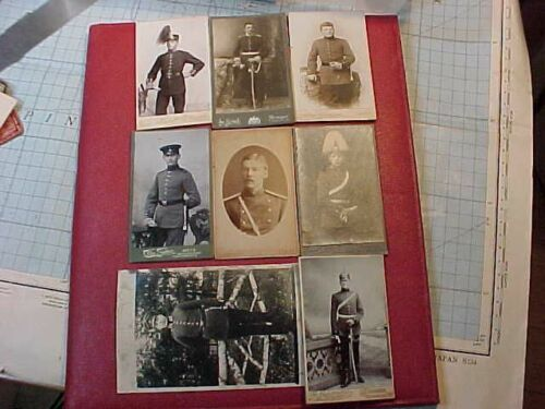 ORIGINAL WWI OR PRIOR GERMAN SOLDIER PHOTO LOT OF 8