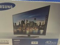 "Samsung 40"" 1080p LED TV *Great Condition* With TV Stand."
