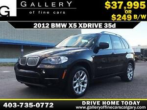 2012 BMW X5 xDrive 35d $249 bi-weekly APPLY NOW DRIVE NOW