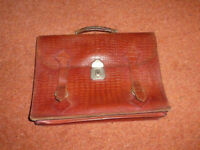Vintage leather briefcase, c. 1950