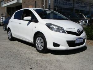 2012 Toyota Yaris NCP130R YR White 4 Speed Automatic Hatchback Wangara Wanneroo Area Preview