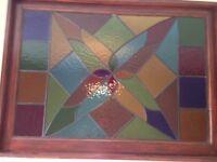 lead light stain glass window