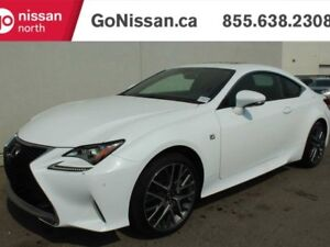 2015 Lexus RC 350 F-SPORT, AWD, RED LEATHER, NAVIGATION, SUNROOF