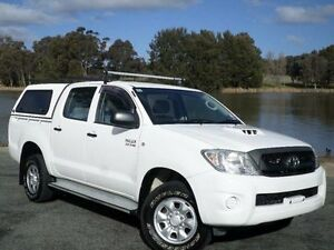 2010 Toyota Hilux KUN26R 09 Upgrade SR (4x4) White 4 Speed Automatic Dual Cab Pick-up Belconnen Belconnen Area Preview