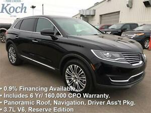 2016 Lincoln MKX Reserve   - Certified -  Heated Wheel