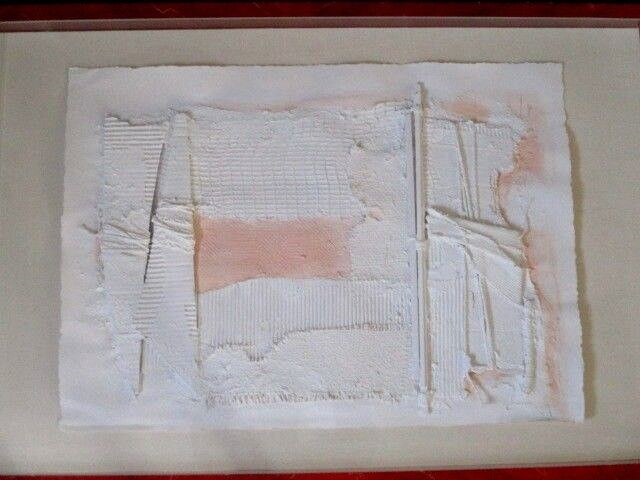 "Original 1985 Signed MANUEL REVUELTA Abstract Mixed Media Art 47"" x 32 1/4"""