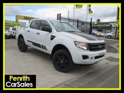 2012 Ford Ranger PX XL 2.2 HI-Rider (4x2) White 6 Speed Automatic Crew Cab P/Up