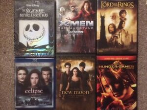 popular dvds including The Nightmare Before Christmas (like new)