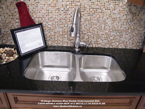 Sinks, Faucets (All Stainless Steel) On Sale @ QuebecKitchens.ca