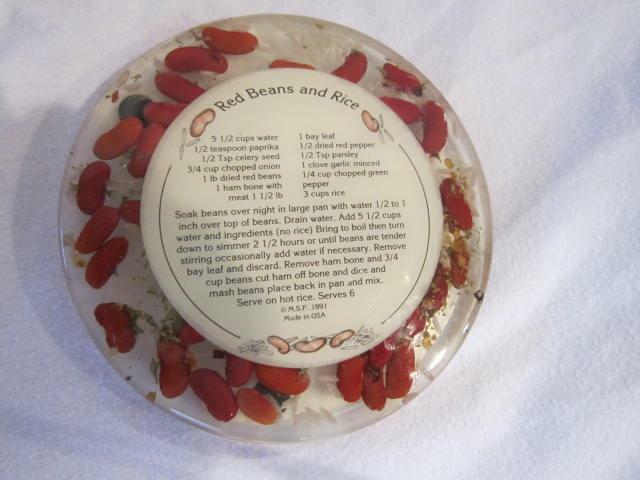 Vintage New Orleans Red Beans And Rice Recipe Trivet 6