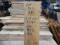 RECLAIMED TIMBER 9 x 2 Only