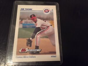 Mint 1991 Impel/Line Drive Jim Thome pre-rookie card