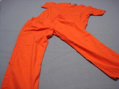 Convict Inmate Jail Prisoner Costume Orange 2 piece set  2XL
