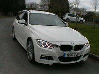 14 REG BMW 330 3.0TD 258BHP 4X4 X-DRIVE M-SPORT TOURING 5 DOOR ESTATE IN WHITE