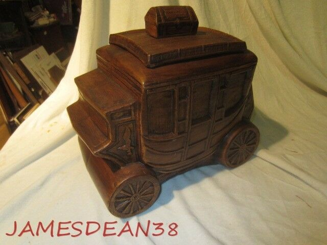TREASURE CRAFT STAGECOACH COOKIE JAR