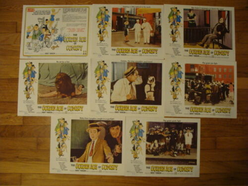 The Golden Age Of Comedy lobby card set of 8 58/106 Laurel & Hardy