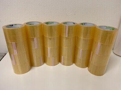 24 Rolls Clear Carton Sealing Packing 1.7 Mil Shipping Box B-Tape 3