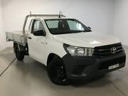 2017 Toyota Hilux TGN121R Workmate 4x2 White 5 Speed Manual Cab Chassis Chatswood Willoughby Area Preview