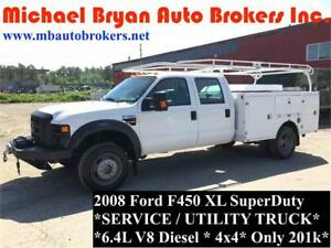 2008 FORD F450 SERVICE TRUCK / UTILITY TRUCK W/TOMMY GATE *RARE*