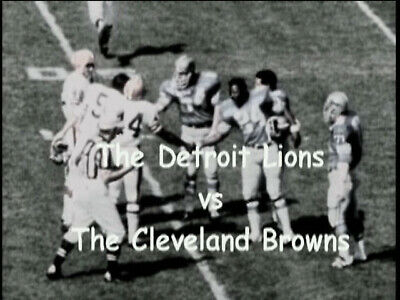 1969 Detroit Lions at Cleveland Browns NFL Regular Season Football DVD Free Ship Cleveland Browns Dvd