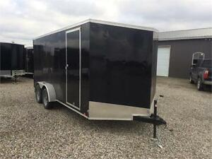Brand New 2017 LOOK 7x16 Enclosed Utility Trailer