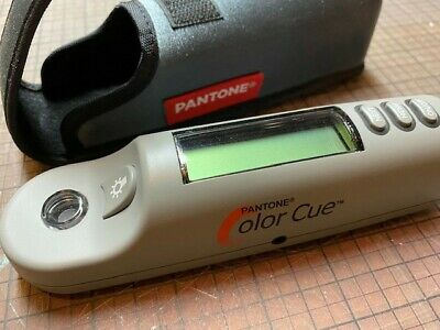 Pantone Color Cue Ezcolor Reader Battery 9v With Case Pms Hue Chip Hand Held