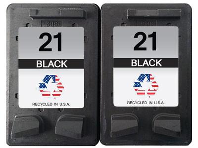 - Remanufactured Ink Cartridges for HP 21 2 Black Fits for Deskjet 3910 D1311
