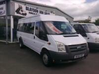 NO VAT..56 reg Ford TRANSIT 100 17-SEAT mini bus RWD 6 speed