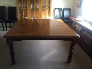 Solid Timber Square Dining Table