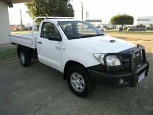 2008 Toyota Hilux KUN26R MY09 SR White 5 Speed Manual Cab Chassis Maddington Gosnells Area Preview