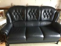 Coles Italian Leather Sofa & Chair