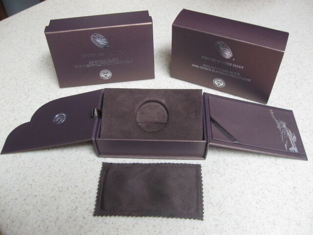 2016 American Eagle One Ounce Platinum Proof Coin Box & Packaging - NO COIN
