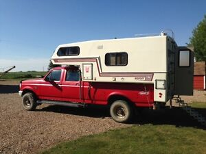 1997 Ford F350 4X4 with Bigfoot 9.5 Foot Camper