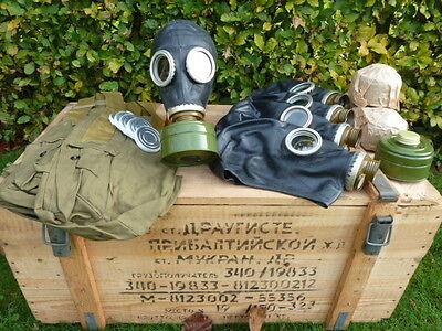 5 x Russische Schwarze Gasmaske Schutzmaske mit Filter Gasmasken