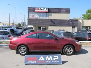 2004 Honda Accord COUPE MANUAL LEATHER ALLOYS A/C SELLING AS IS