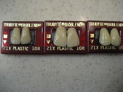 Dentsply Dental Teeth Trubyte Bioblend Upper Anterior Mould 21x108