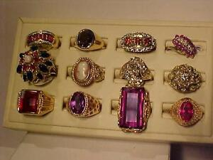 12 QUALITY RINGS FROM THE PAST! 10K*14K*18K OPAL,DIAMONDS,LAPIS,SPINAL,RUBY,CAMEO,TOURMALINE,CITRINE,SOME APPRAISALS
