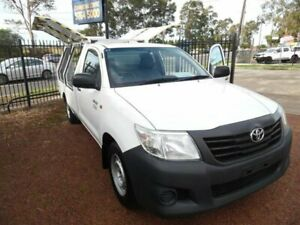 2013 Toyota Hilux TGN16R MY12 Workmate White 5 Speed Manual Cab Chassis Homebush West Strathfield Area Preview