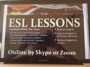 English Tutoring by Certified Tesol ESL Tutor-Skype or In-person