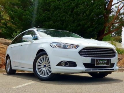 2016 Ford Mondeo MD Trend PwrShift White 6 Speed Sports Automatic Dual Clutch Wagon Littlehampton Mount Barker Area Preview